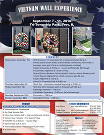 View the Vietnam Wall Experience Flyer
